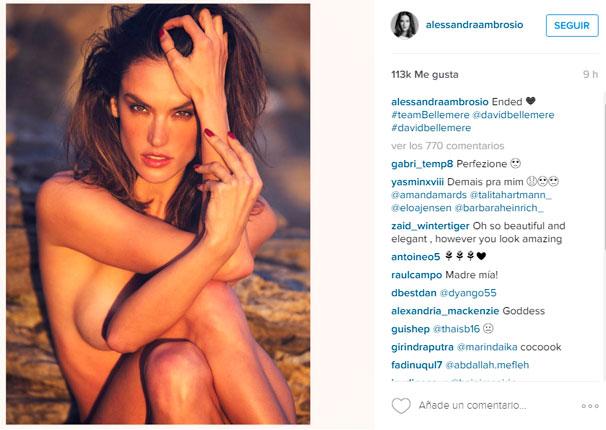 Esta Foto De Alessandra Ambrosio Desnuda Basta Para Provocar Más De