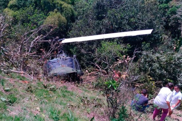 Los segundos posteriores del accidente de helicóptero en Copacabana