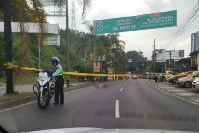 Balacera en vía Las Palmas, en Medellín, deja dos muertos