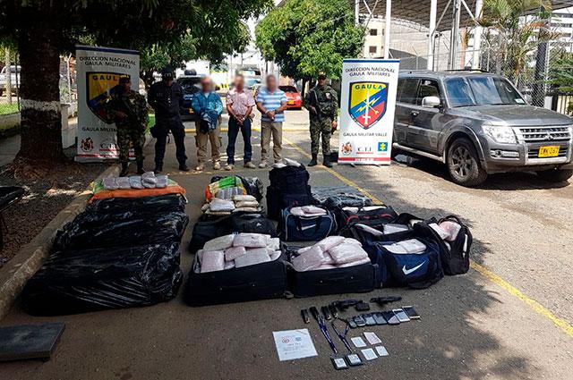 Escoltas de la Unidad de Protección detenidos con 300 kilos de marihuana