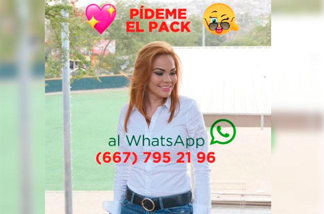 Candidata a diputada en Sinaloa comparte su 'pack' por WhatsApp