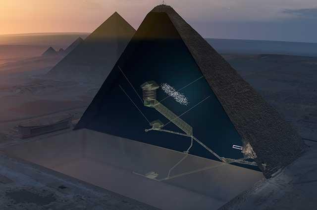 Encuentran una nueva cavidad en la Pirámide de Keops