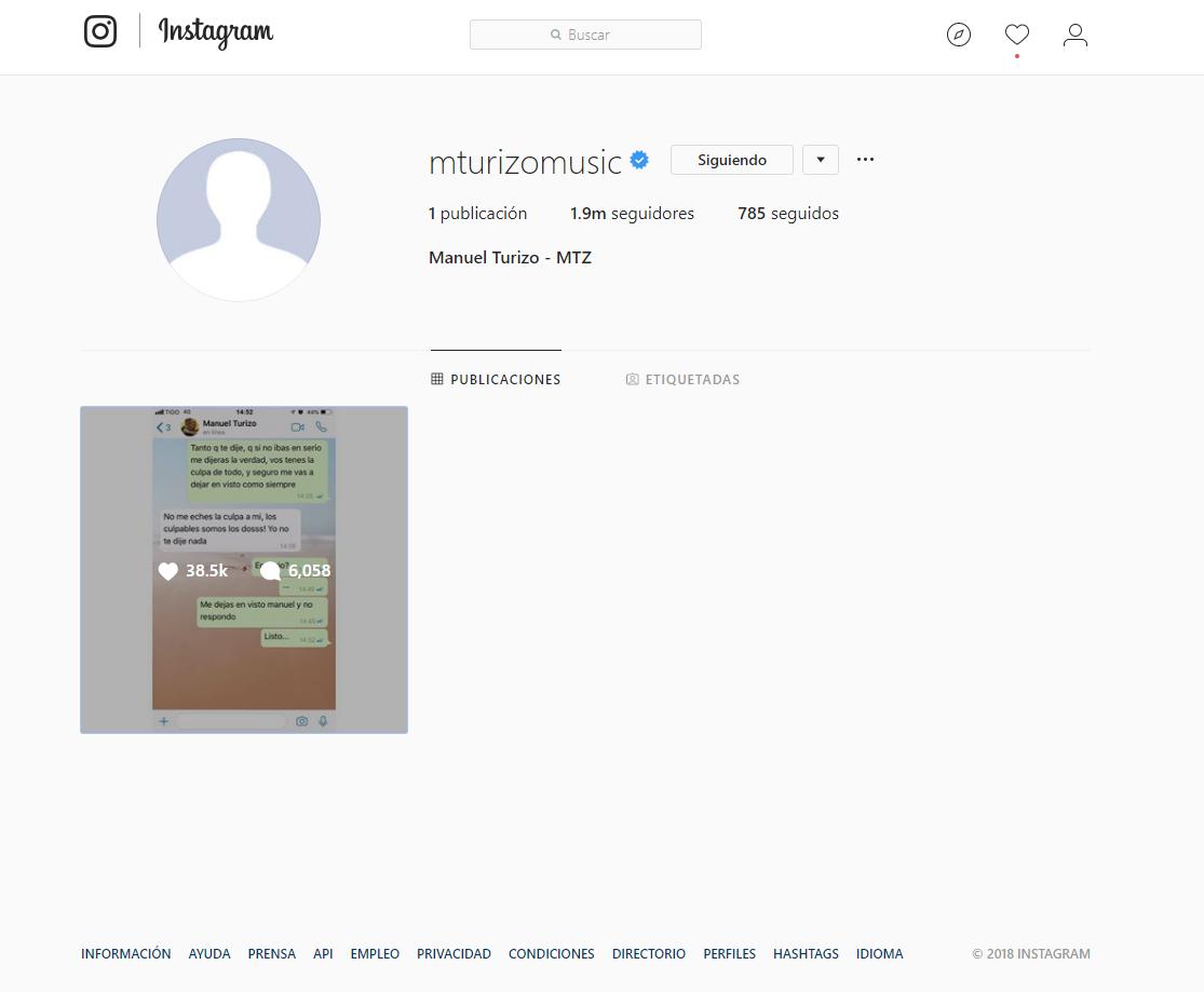 ¿Por qué le hackearon la cuenta de Instagram a Manuel Turizo?