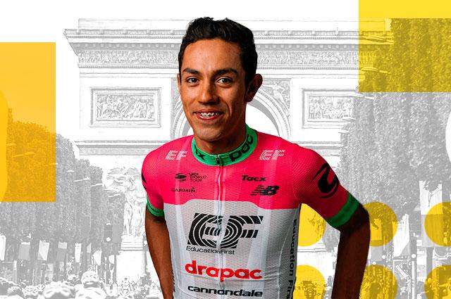 Daniel Felipe Martínez en el Tour de Francia 2018 ... Felipe Daniel Martinez