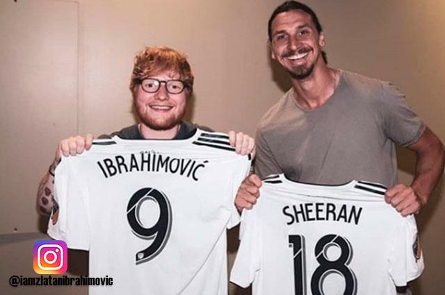 """Ed Sheeran finally met god"": Zlatan Ibrahimovic showed his most self-centered side"